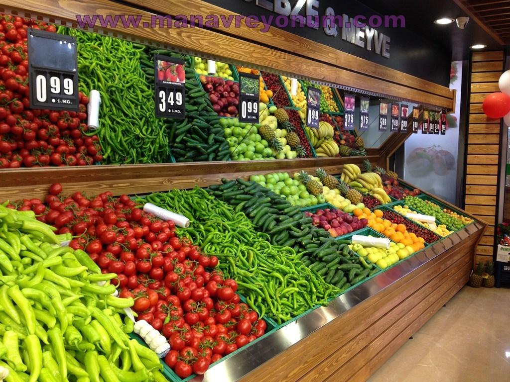 Obst und Gemüse Regal 03